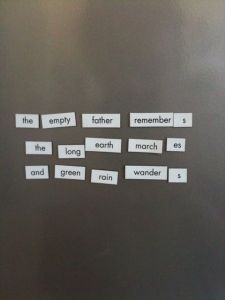 Magnetic Poetry 3