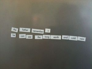 Magnetic Poetry 4
