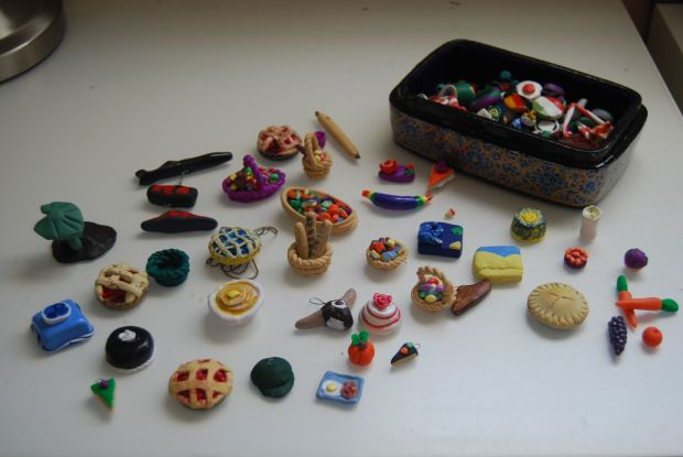 mini clay pieces