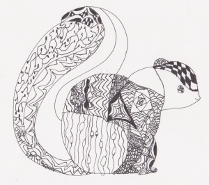 doodle squirrel